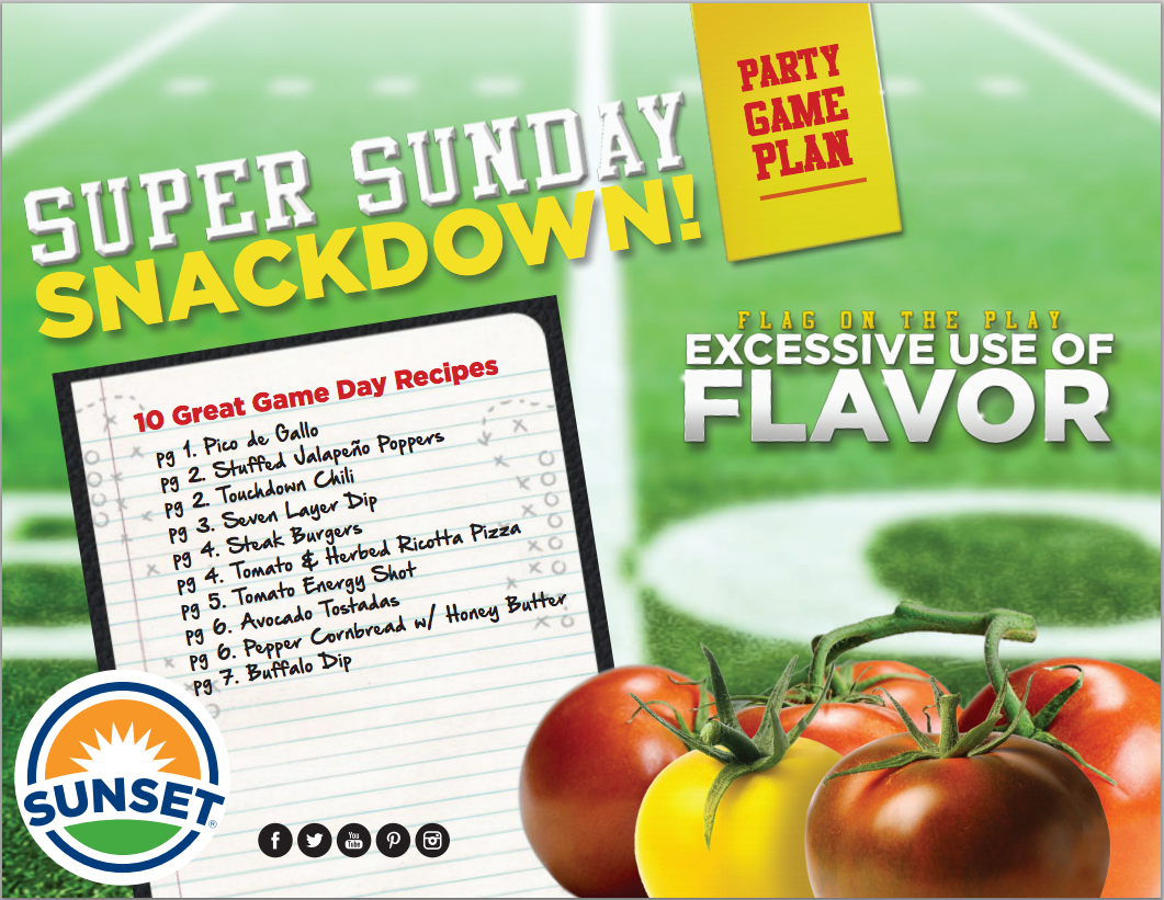 Super Sunday Snackdown eBook for SUNSET® by Sam Henderson of Savour Imagery.