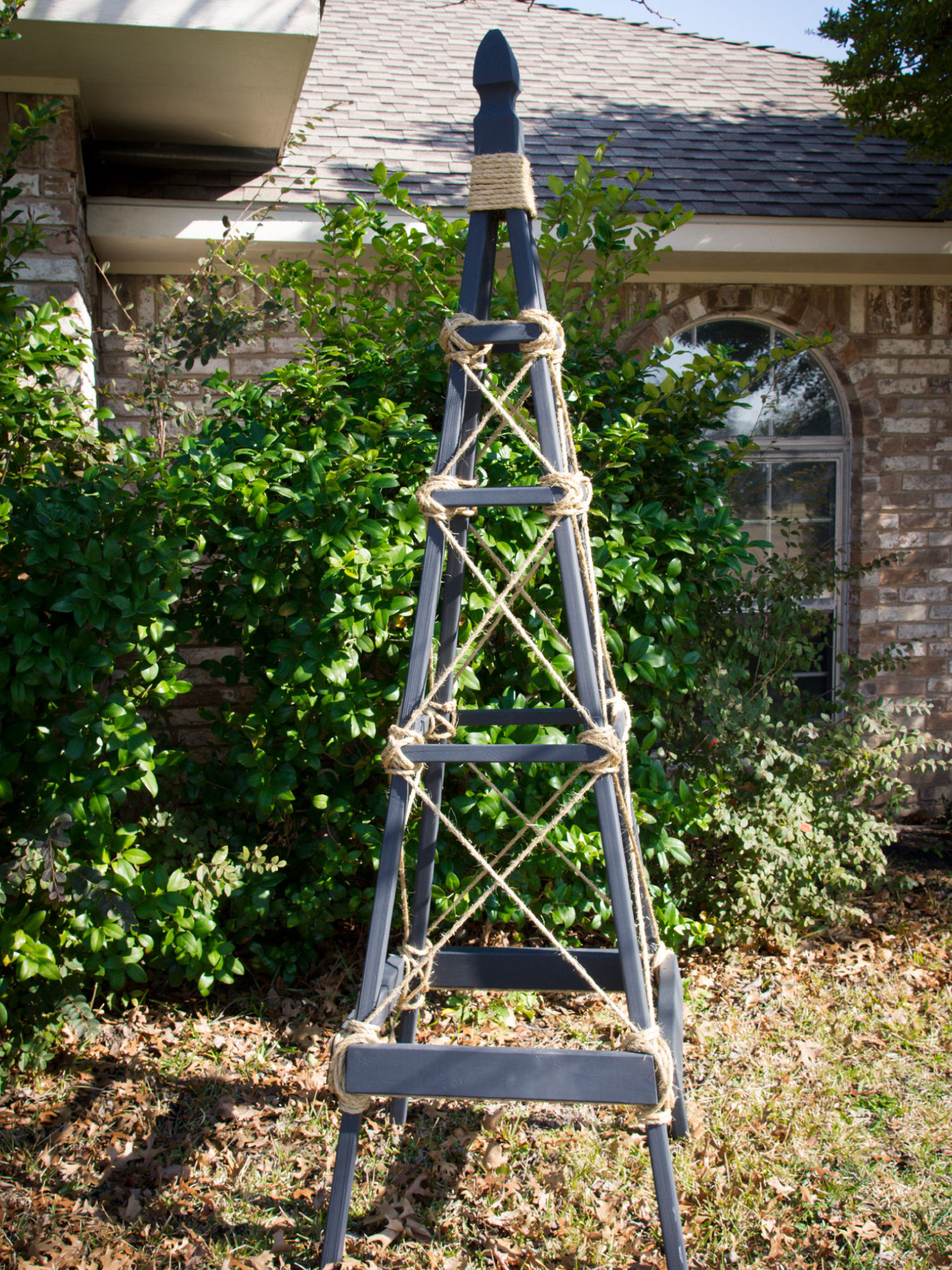 Garden Obelisk by Sam Henderson of Today's Nest for HGTV.
