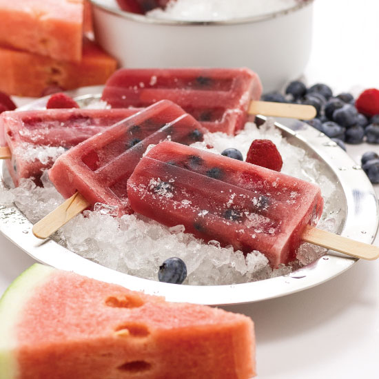 Watermelon Berry Pops by Sam Henderson of Today's Nest