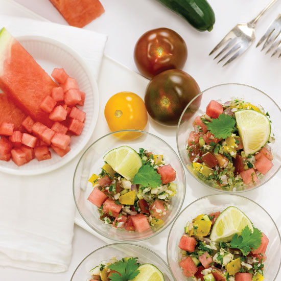 Flounder Ceviche with Watermelon by Sam Henderson of Today's Nest