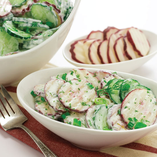 Radish and Cucumber Salad with Fresh Dill by Sam Henderson of Today's Nest