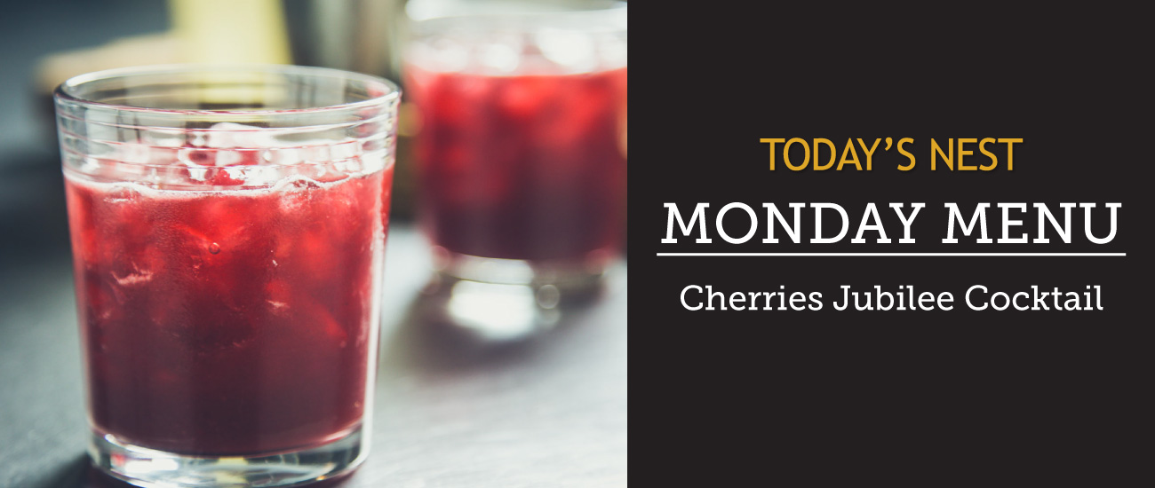 Cherries Jubilee Cocktail by Sam Henderson of Today's Nest
