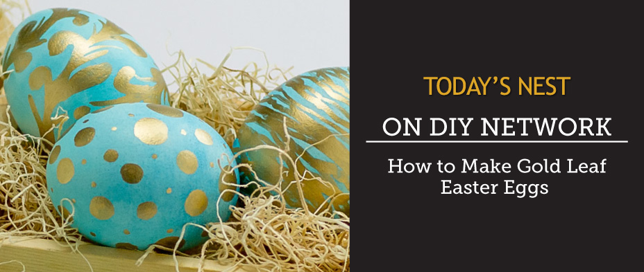 Gold Leaf Eggs by Sam Henderson of Today's Nest for DIY Network