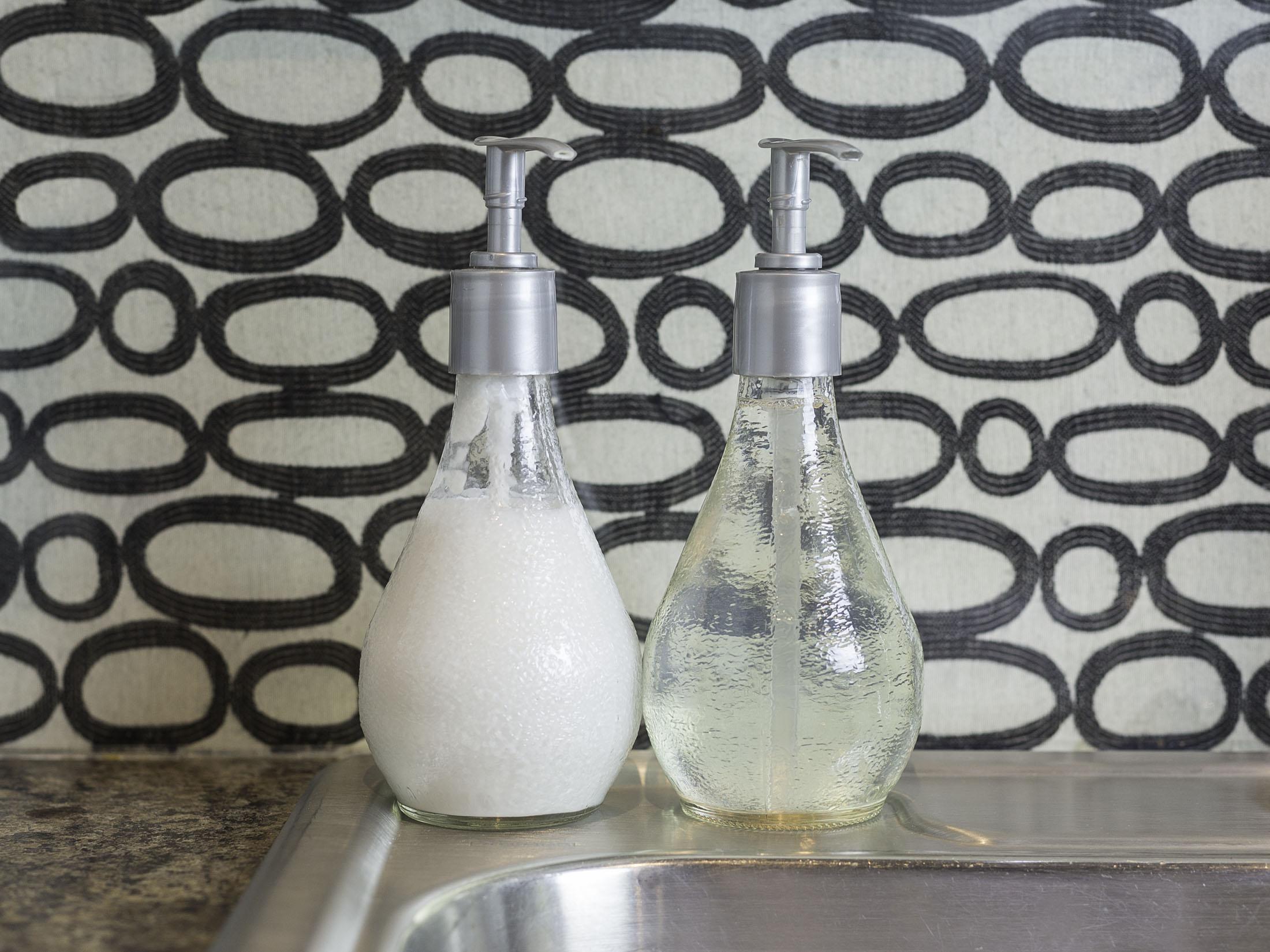 Orangina Bottle Soap Dispenser by Sam Henderson of Today's Nest for HGTV