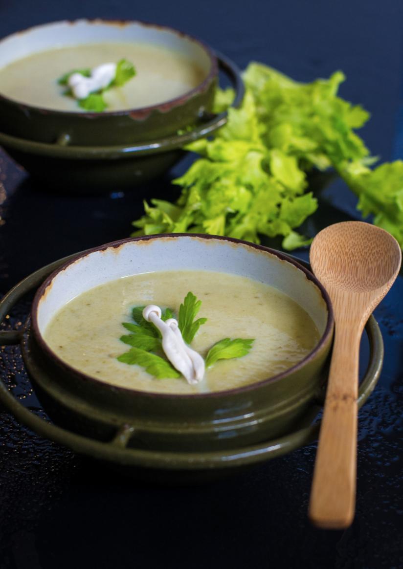 Creamy Celery Leek Soup