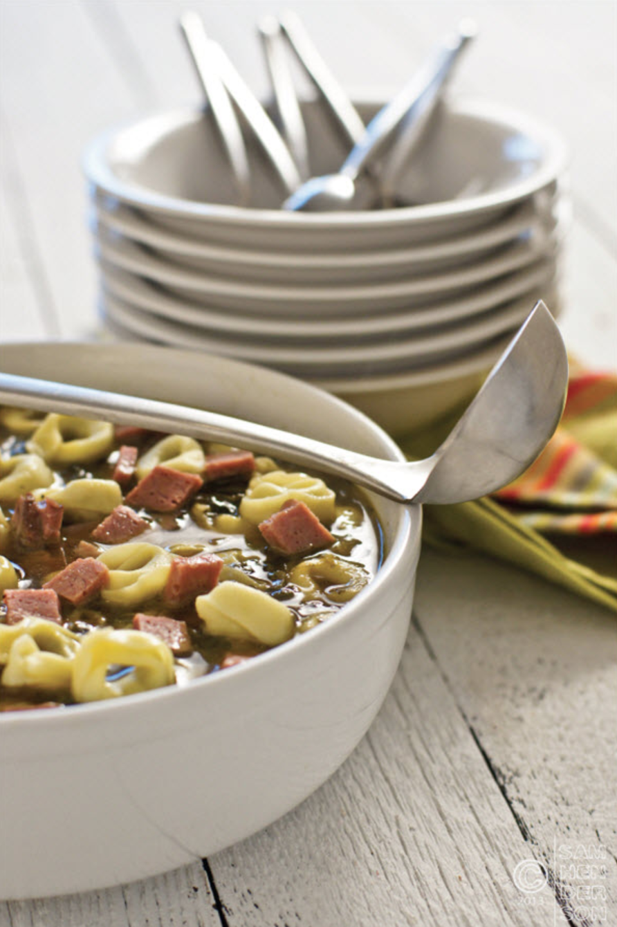 Beef & Spinach Tortellini Soup