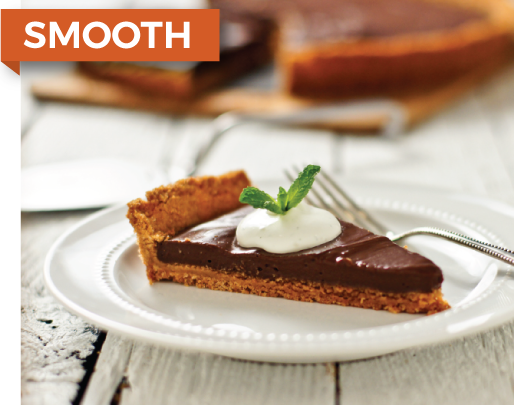- CHOCOLATE TART WITH MINT MASCARPONE