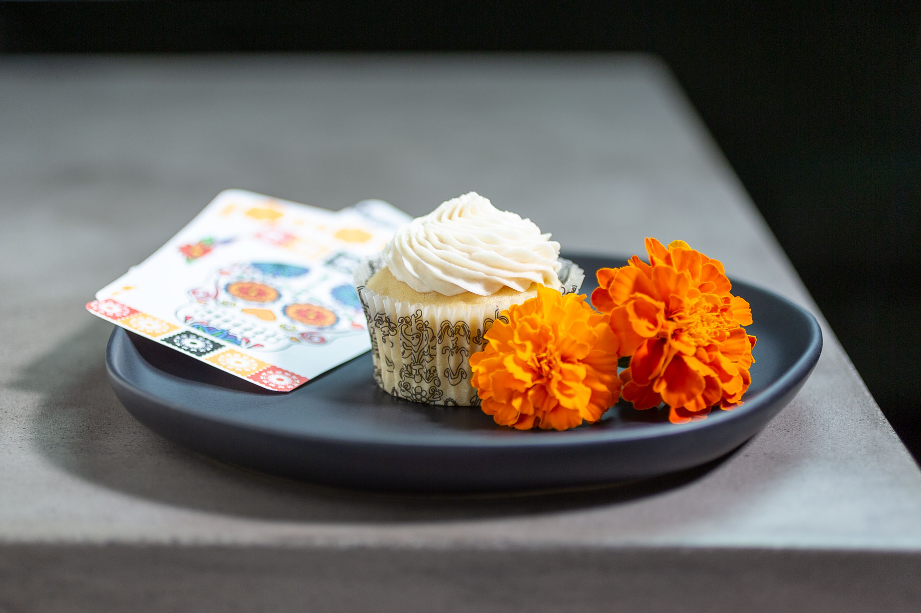 Arroz con Leche Cupcake for Day of the Dead (Dia de Los Muertos) by Sam Henderson of Today's Nest.