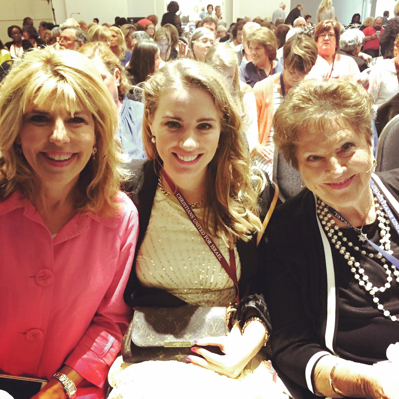 Pastor Terri Pearsons and Mimi at DFZ prayer meeting