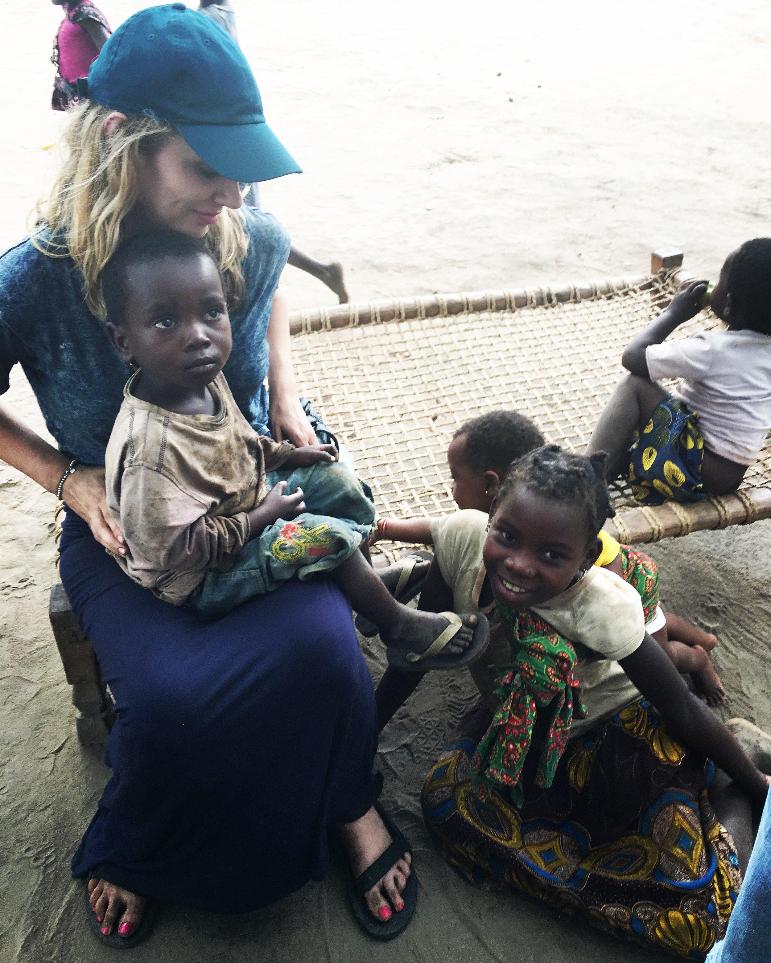 Precious children from the village in the bush.