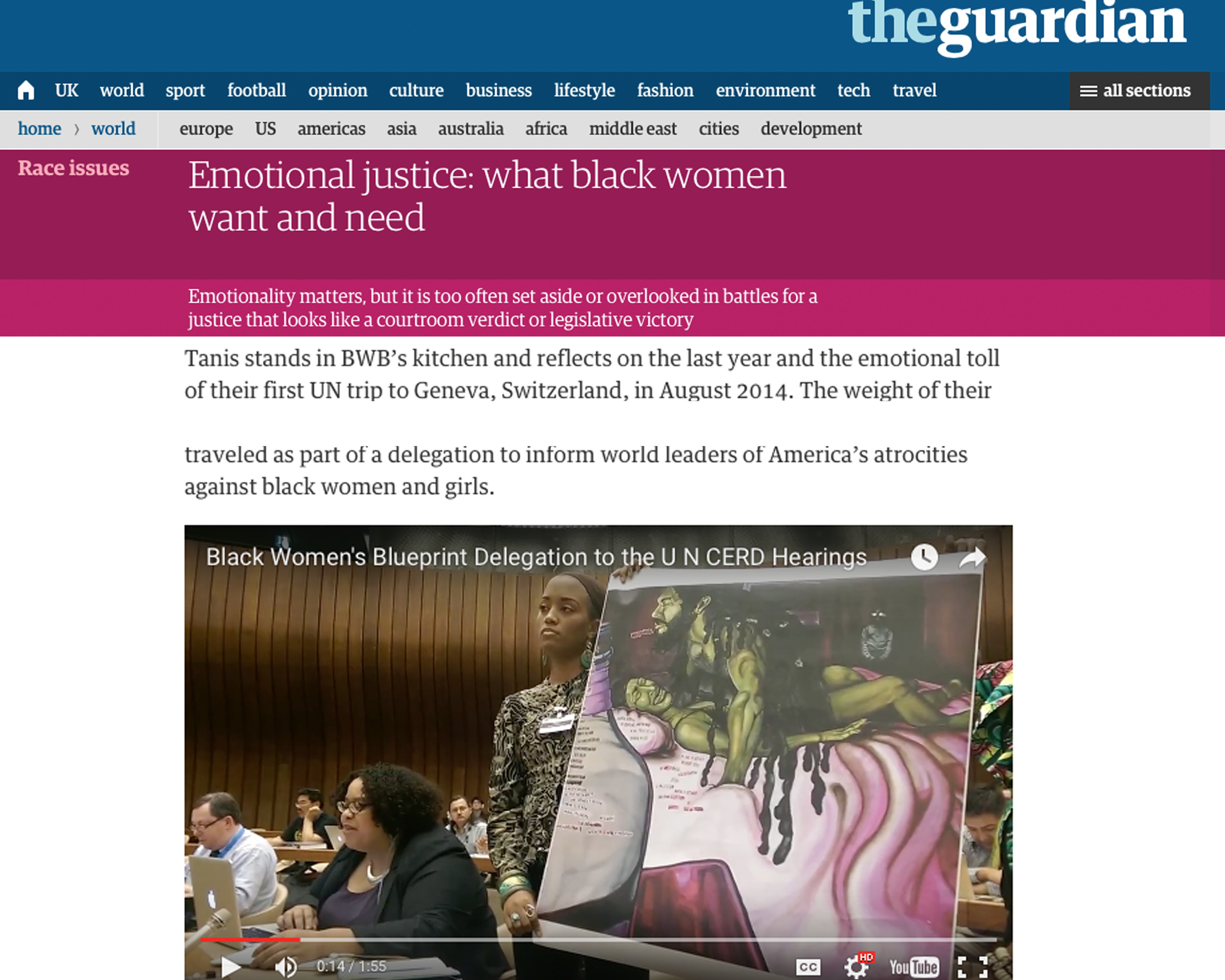 The Guardian | Emotional Justice: What Black Women Want and Need