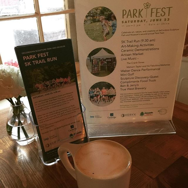 Hey Haute Customers!  This morning @decordovaspandm deCordova Sculpture Park & Museum will pay for your drinks at Haute Coffee 😁👍☕️ While your here you can stop by their table to learn about their annual Park Fest on Saturday June 23rd 🌿Park Fest is a celebration and super fun for the whole family...there will be a 5k run 🏃‍♀️, live music 🎶, an Artisan Market and Art Making Activities 🎨, mini golf ⛳️, and food trucks 🌯🚚 and so much more! Come by soon before the free drinks run out 🤗 #hautecoffee #concordma #decordovasculpturepark #decordovamuseum  #freecoffee