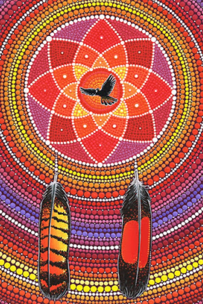Elspeth McLean - 'red tailed black cockatoo dream catcher'