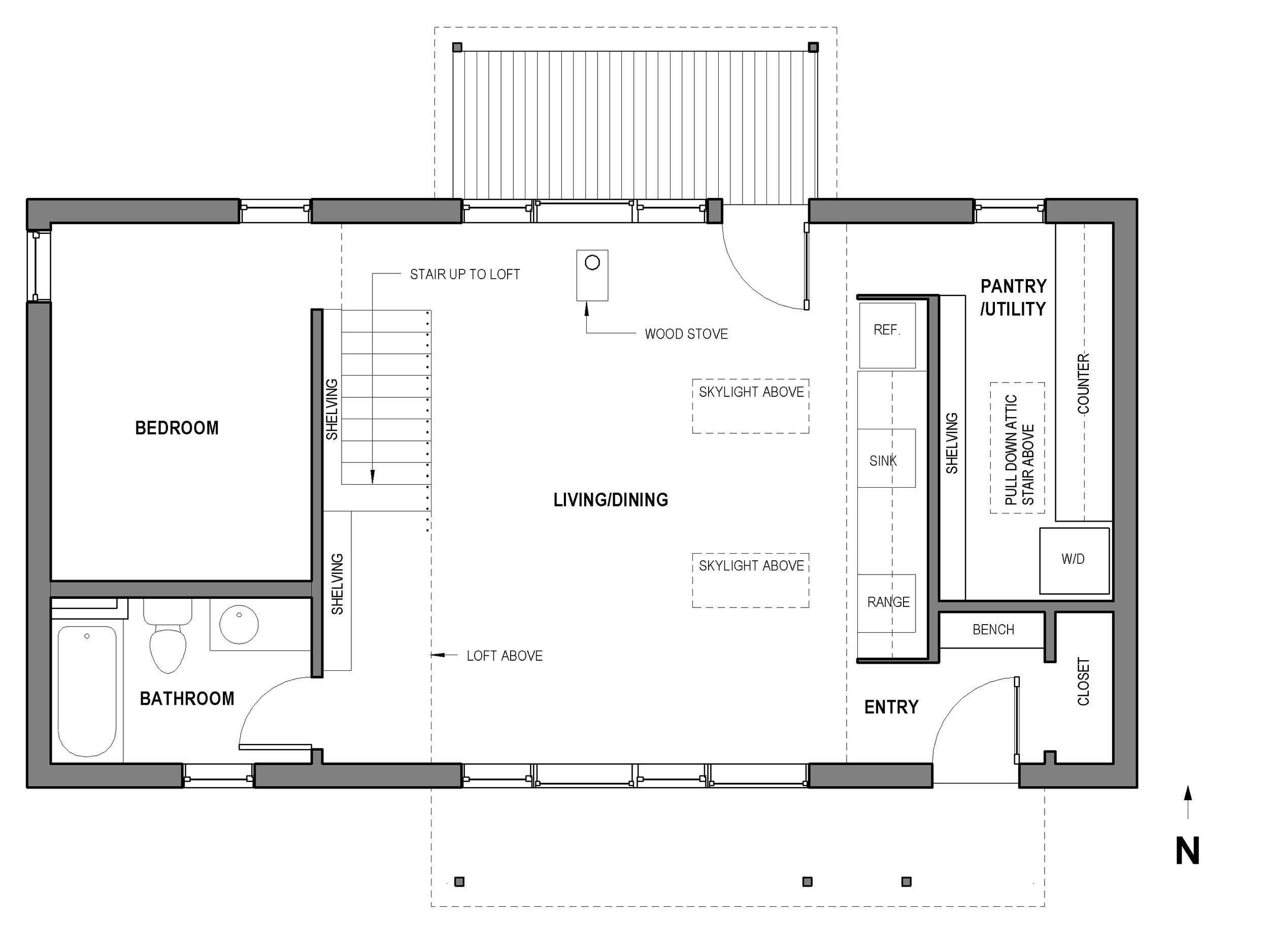 Portland Small Family House - Plan