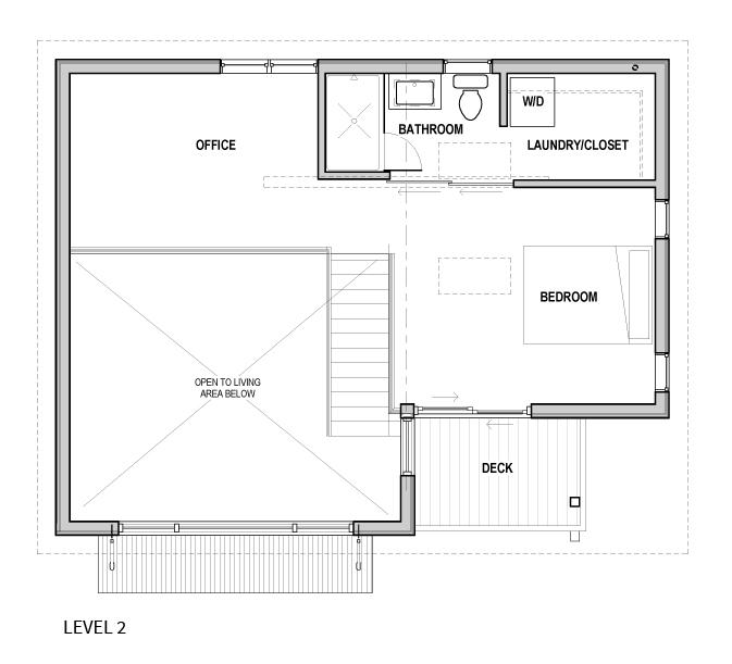Portland ADU - bike garage - plan2