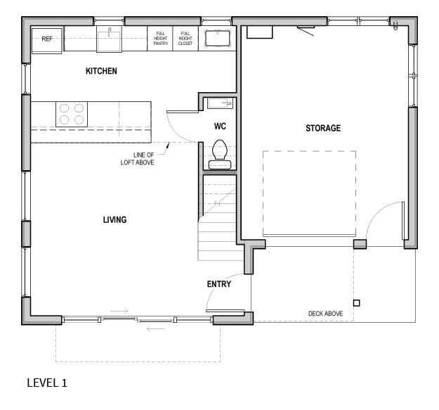 Portland ADU - bike garage - plan1