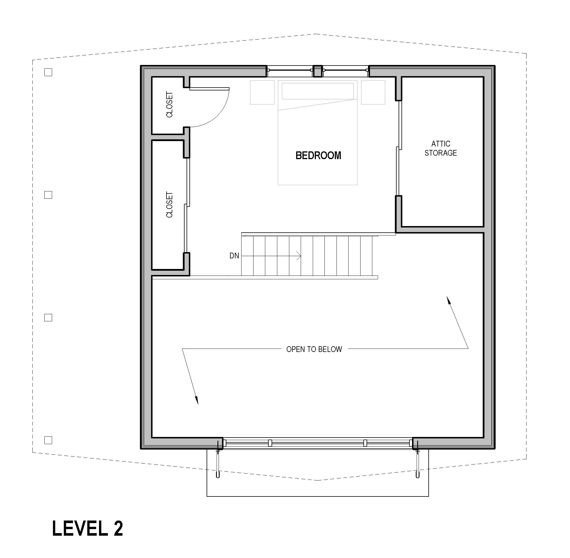 Portland ADU mother in law - Loft Plan