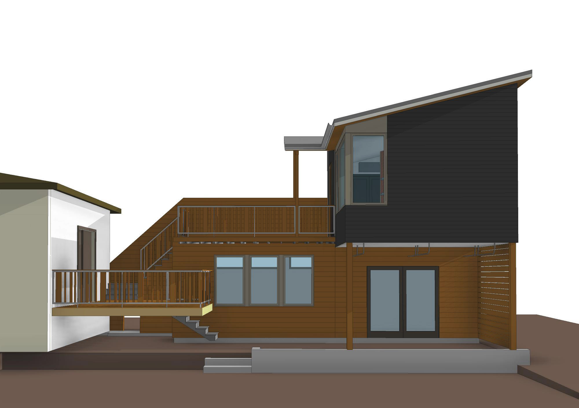 Gladstone studio and workshop - portland, or - from yard