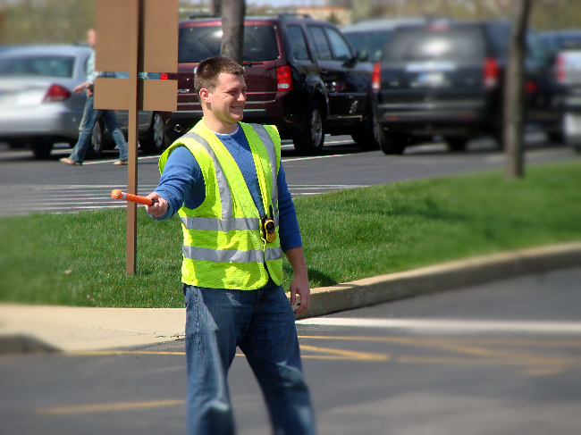 Andy serving guests in the parking lot