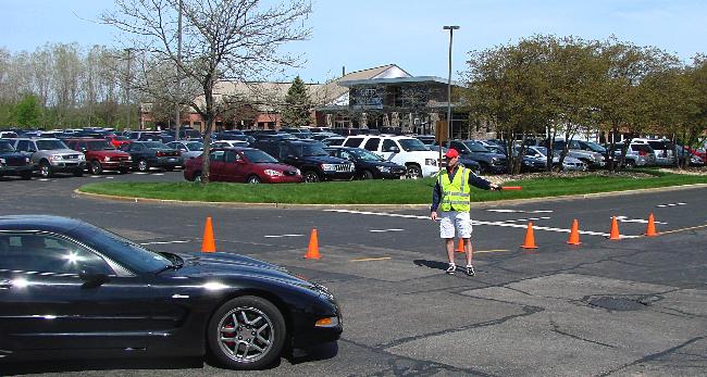 Craig directing traffic
