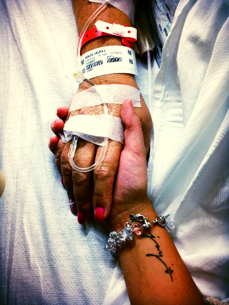 Mom and Daughter, before Mama's surgery ||Courtesy Liv Waltz, from her  blog