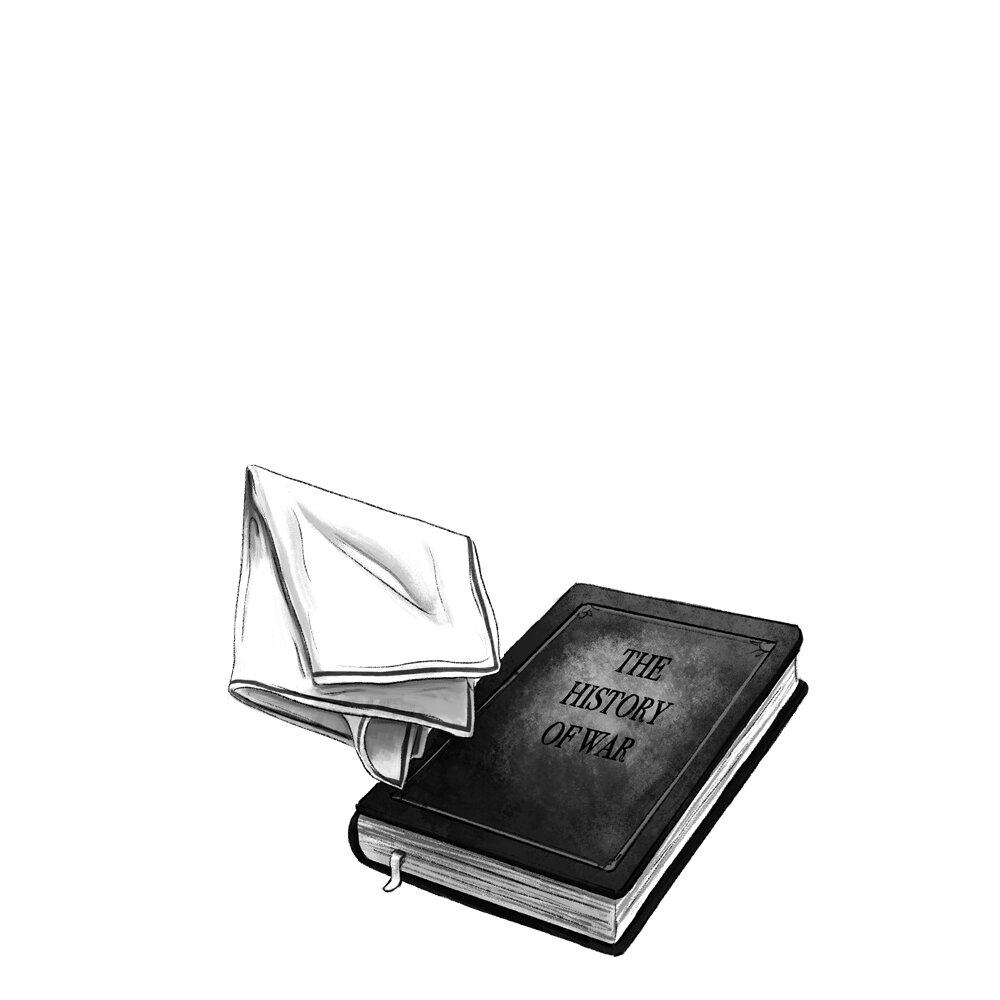 Joseph-Pemberton_Book--'The-history-of-wars'-&-a-handkerchief-.jpg