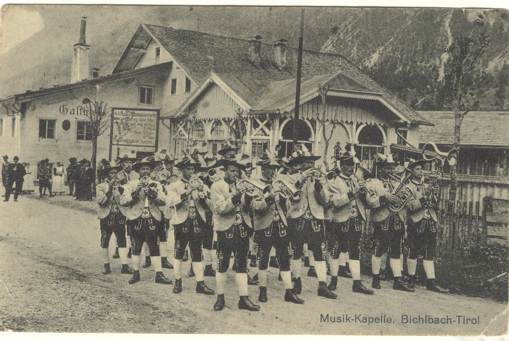 Einmarsch der Musikkapelle im Jahre 1910