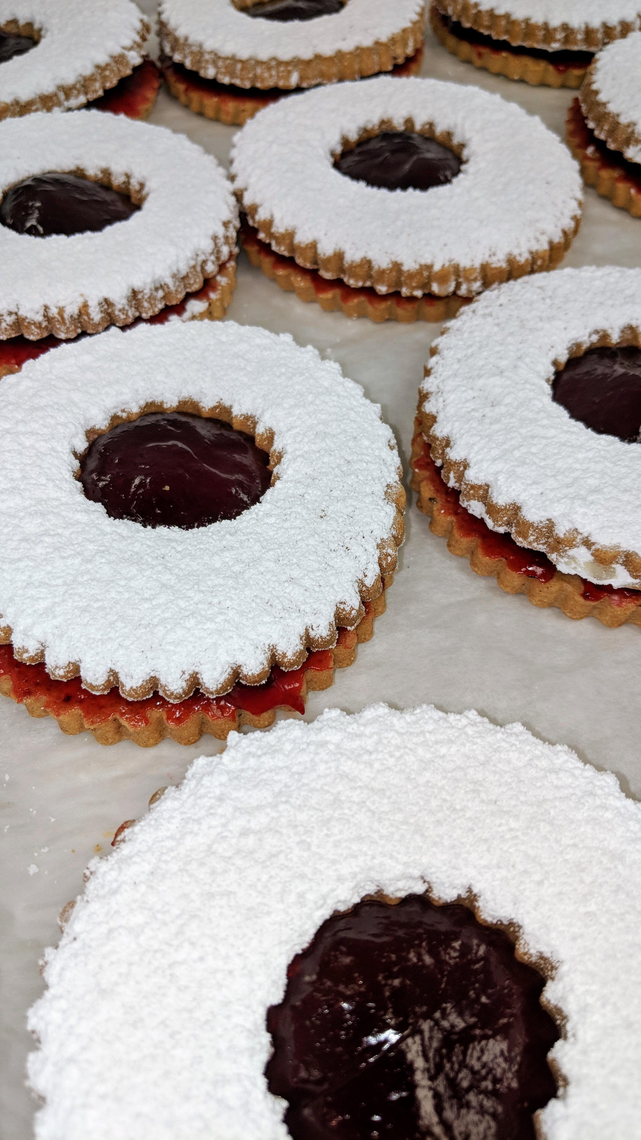 Linzer Tort Cookies