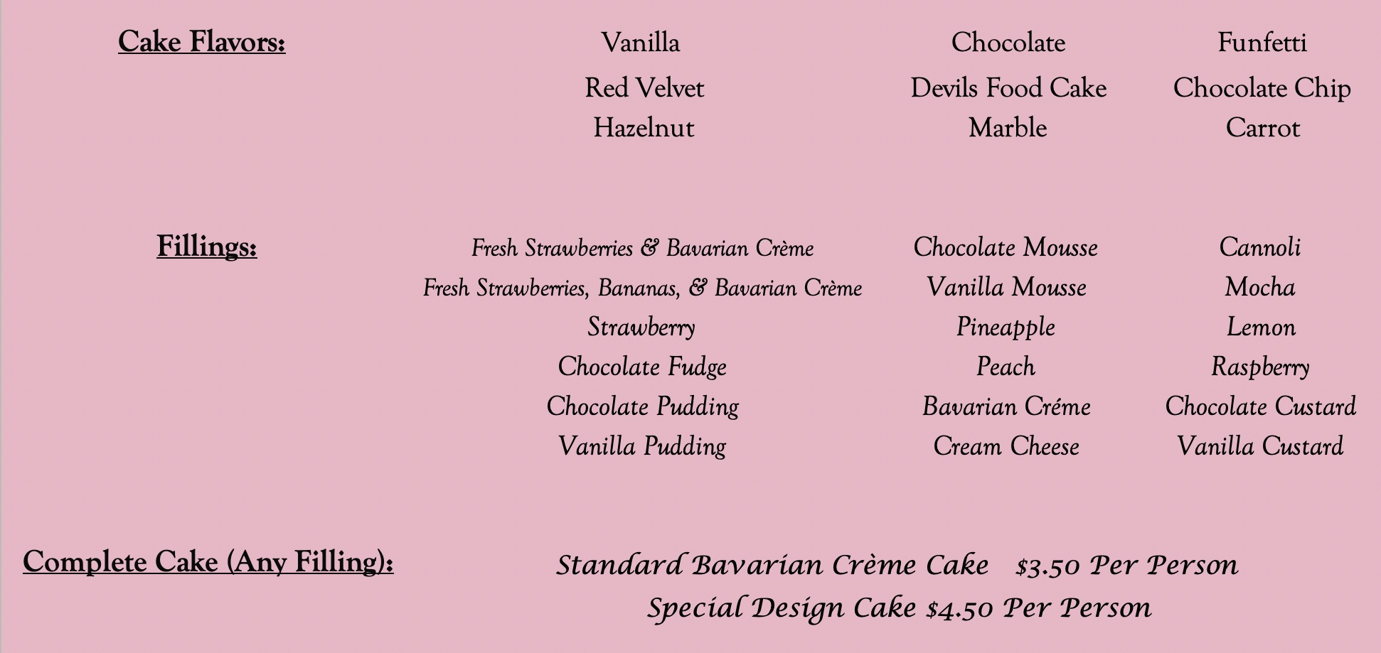 Rudy's Pastry Shop Cake Flavors & Fillings.jpg