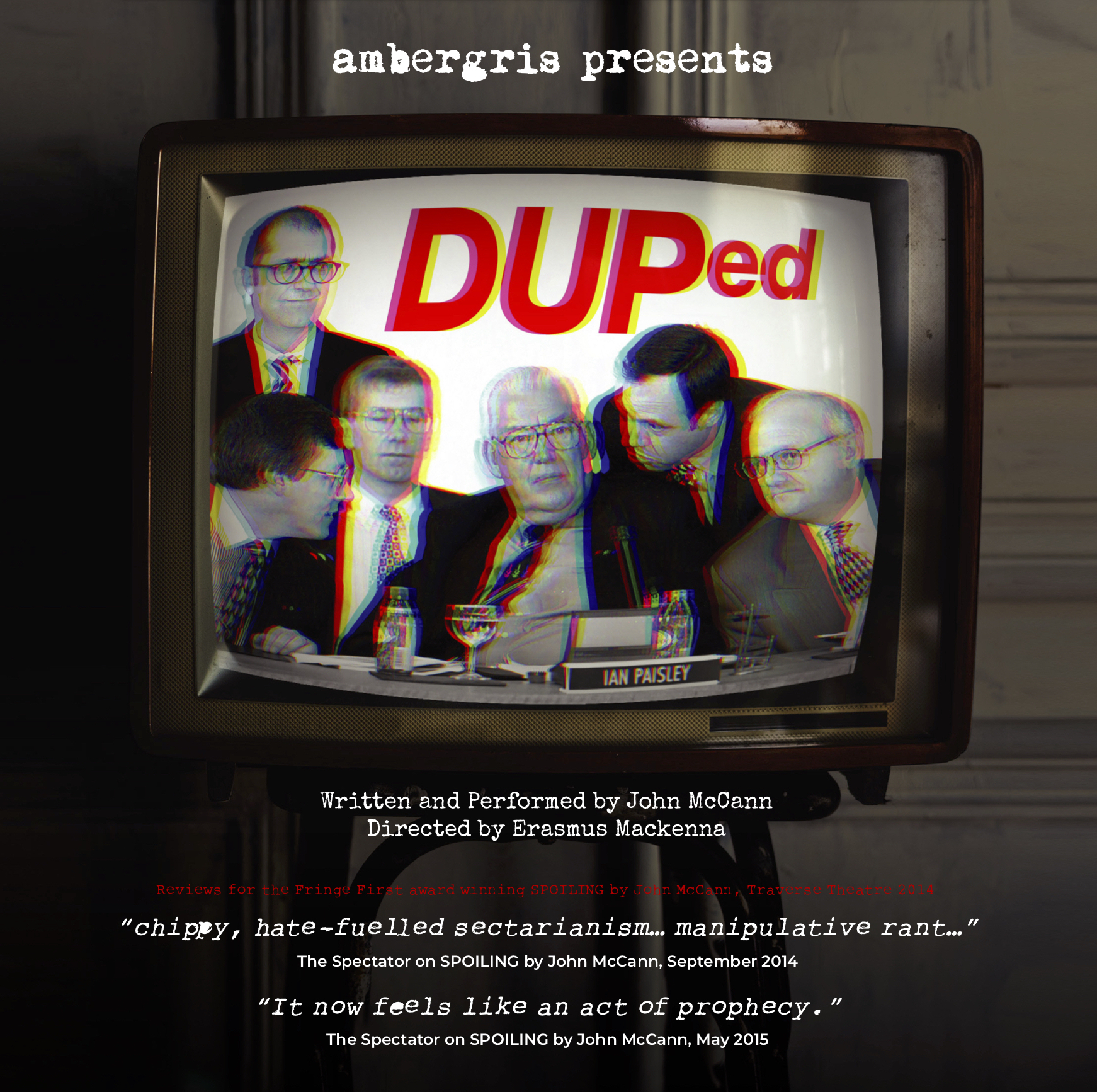 DUPed - Wednesday 27 - Saturday 30 March 2019
