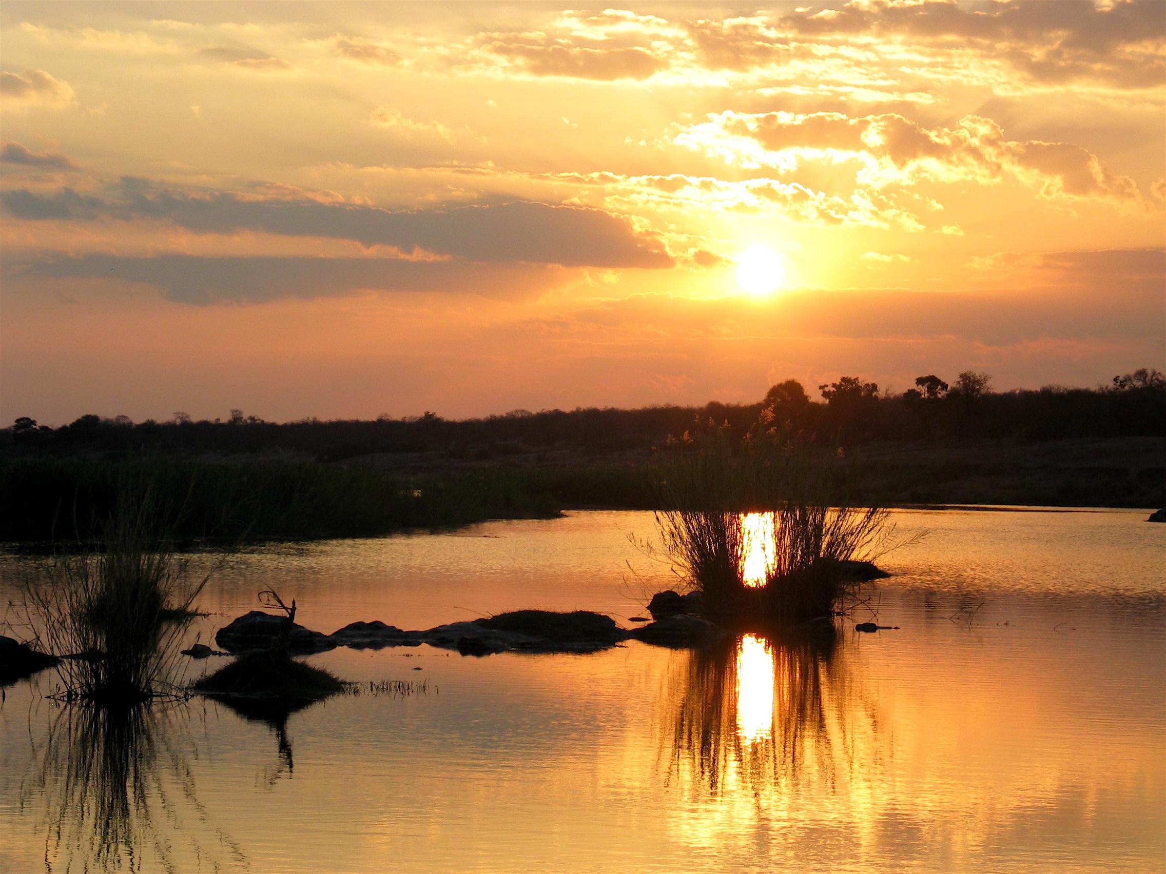 Sunset in Kruger Park