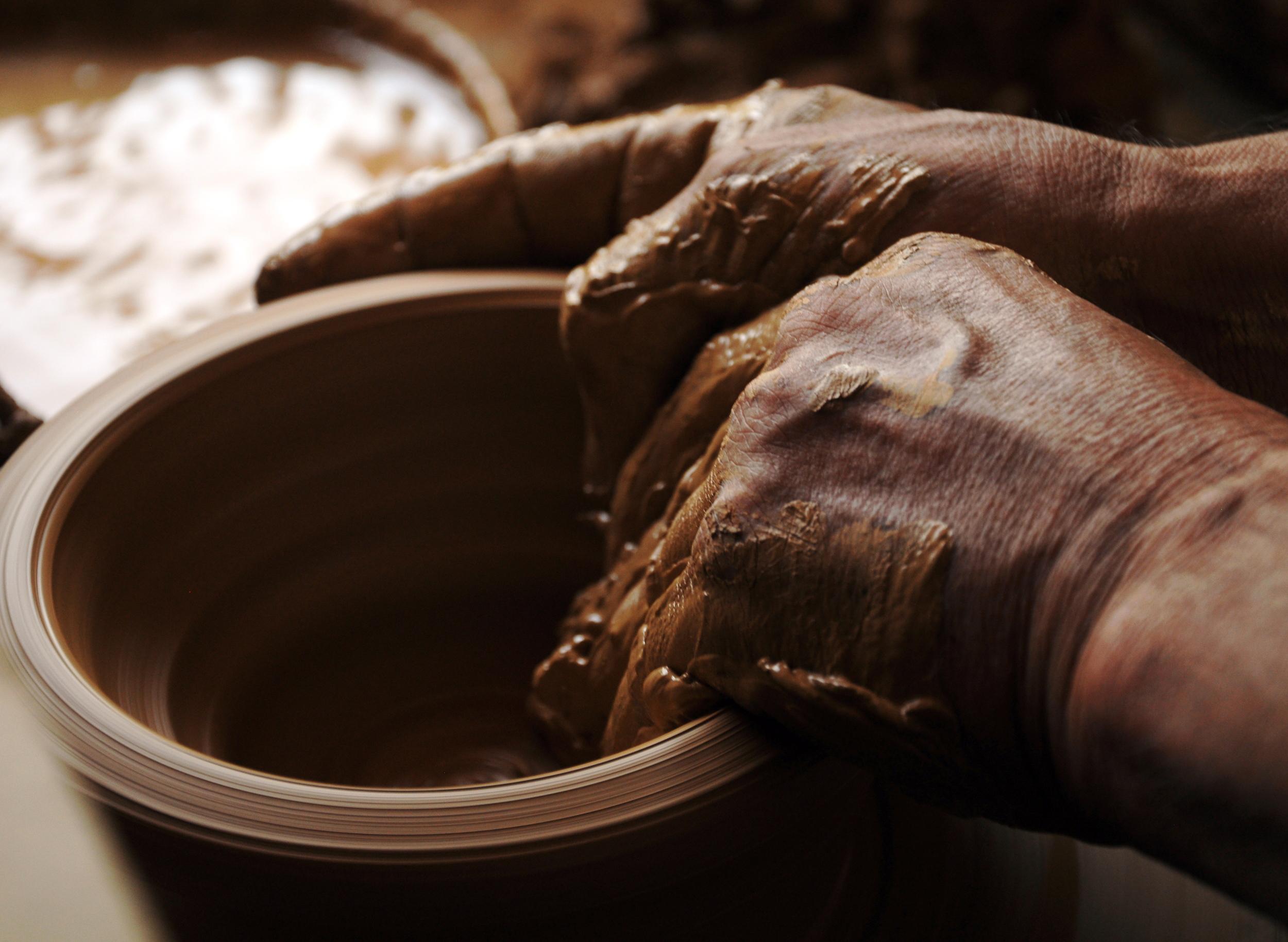 A Potter's Hands in Bilecik