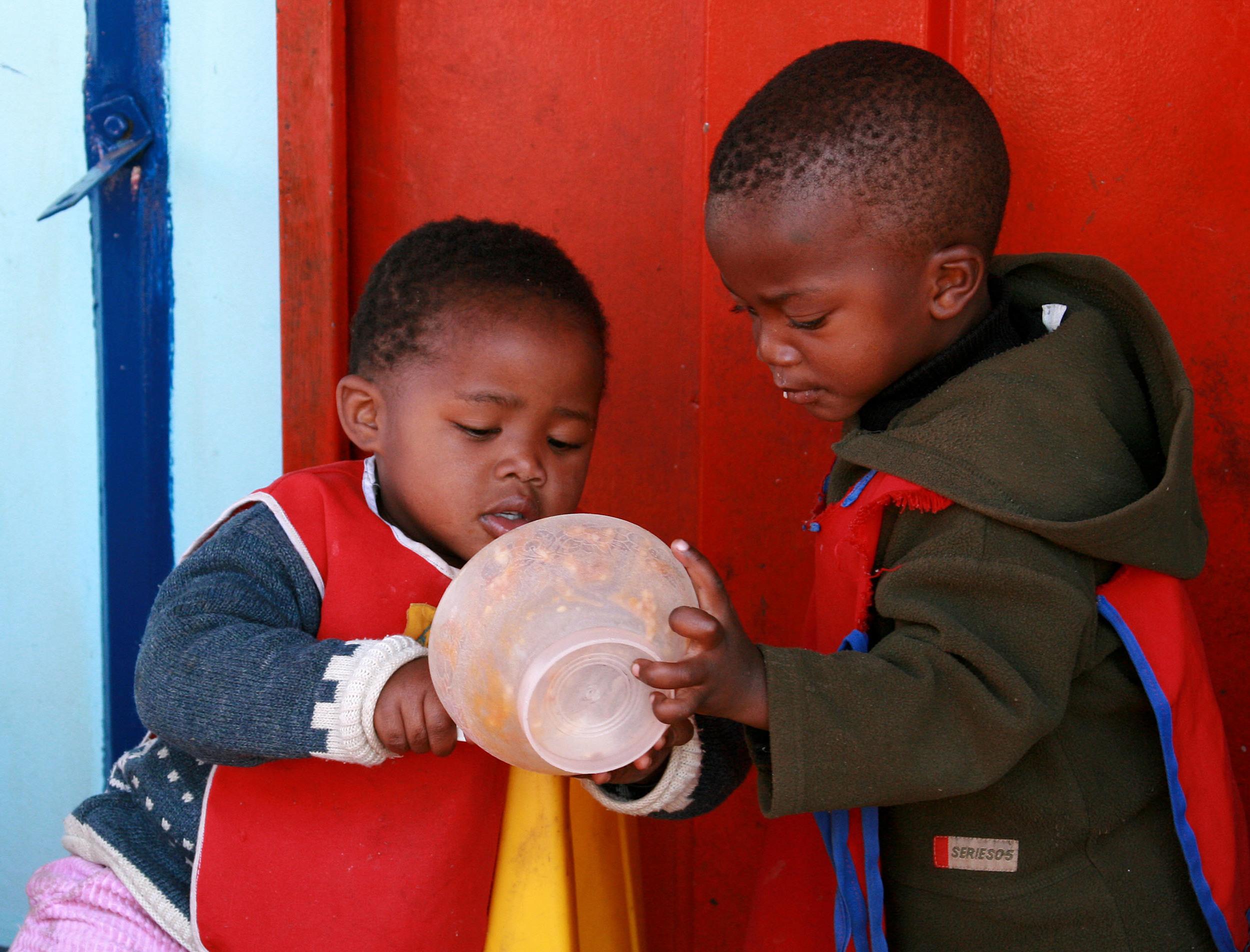 Children in Kliptown, Soweto