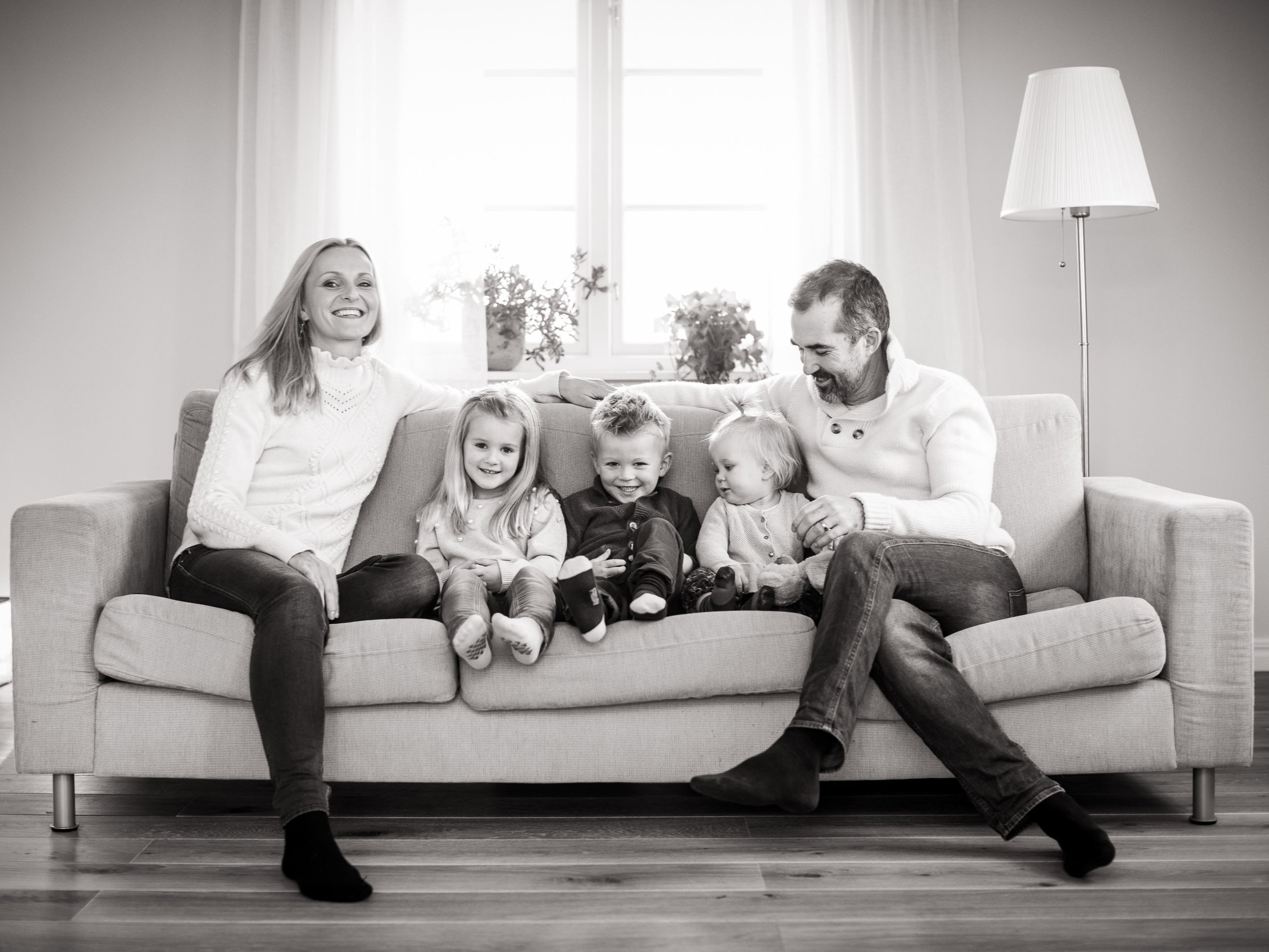 Family life hos familjen Werthén i Sollentuna, fotograferat en söndag i februari 2019.