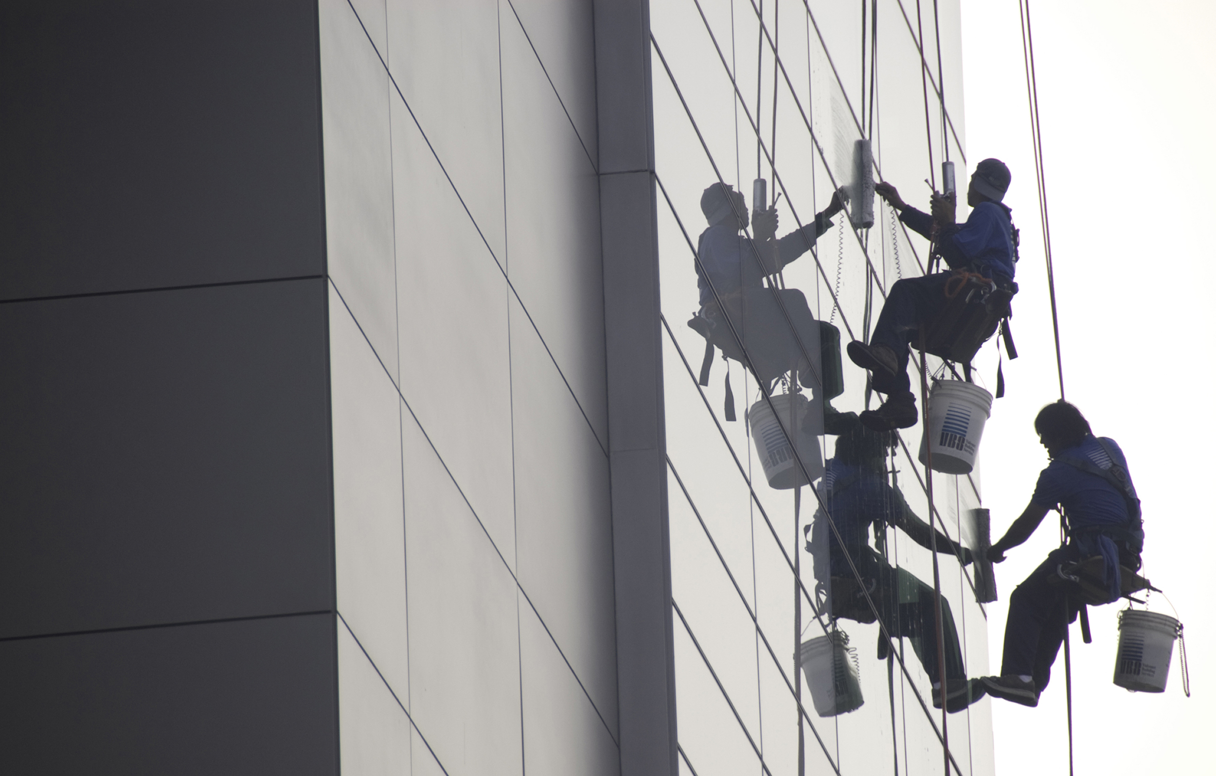 Window Washers at the Newseum