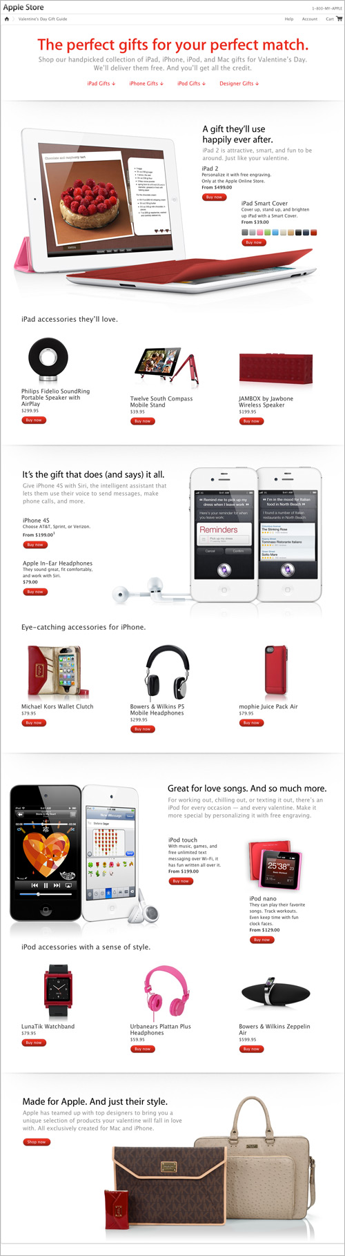Apple Store Valentine's Day gift guide
