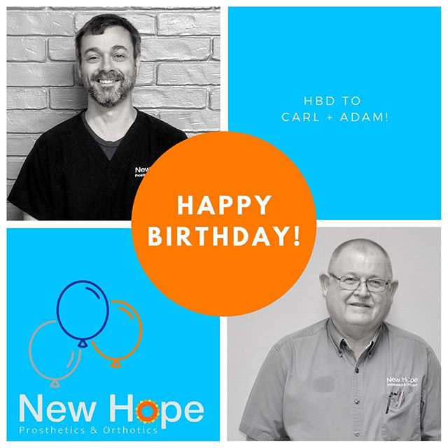 Help us wish Carl + Adam special birthday wishes! Thank y'all for being apart of the New Hope family!