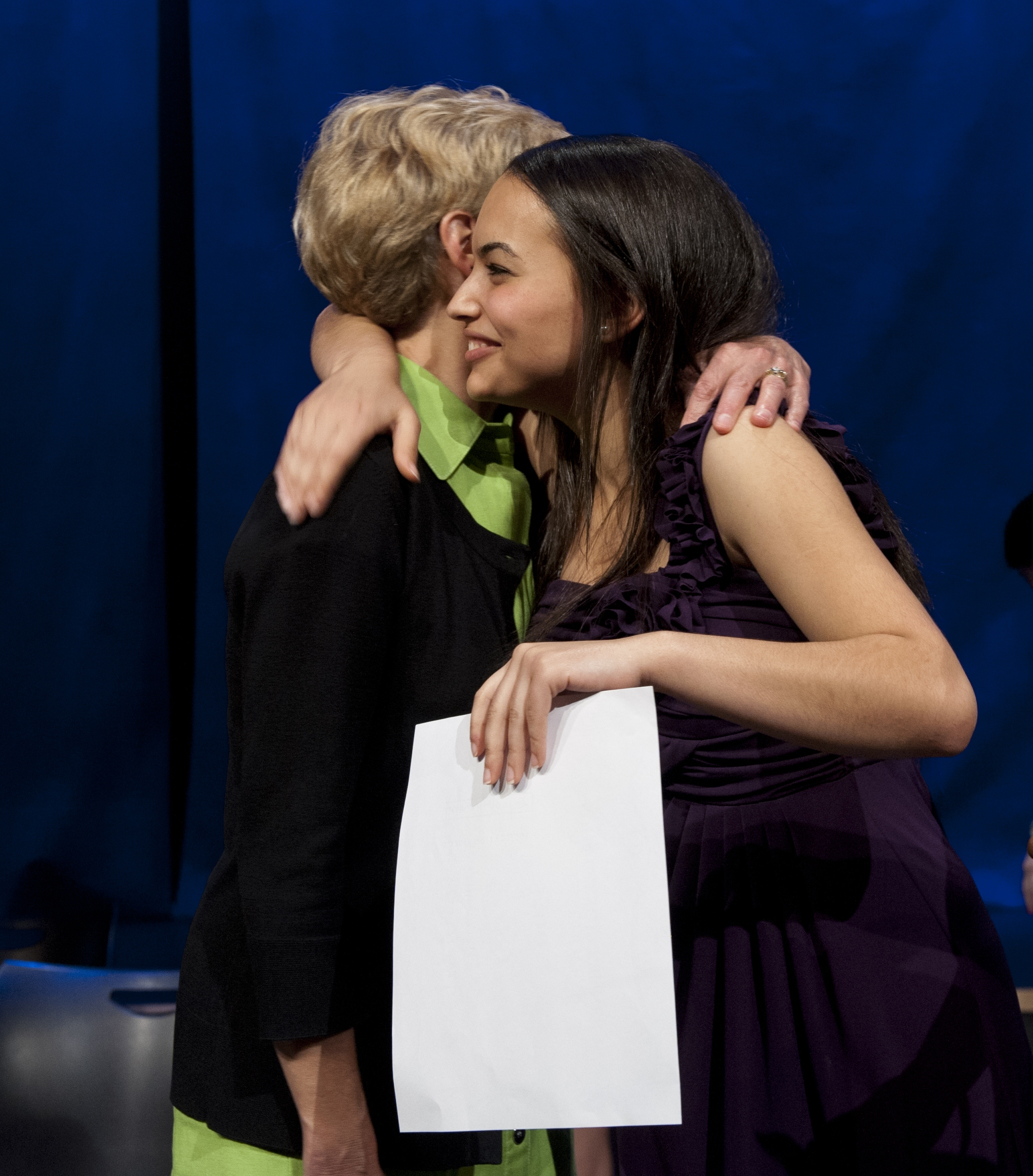 Freeman High School 2012 Scholarship winner, Dina Ayad, with her GRASP advisor, Janet Andrews.