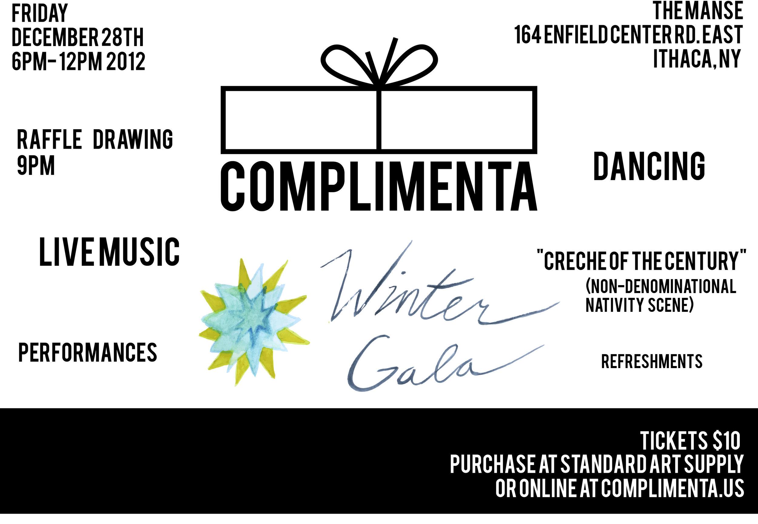 Invitation for Complimenta's Winter Gala