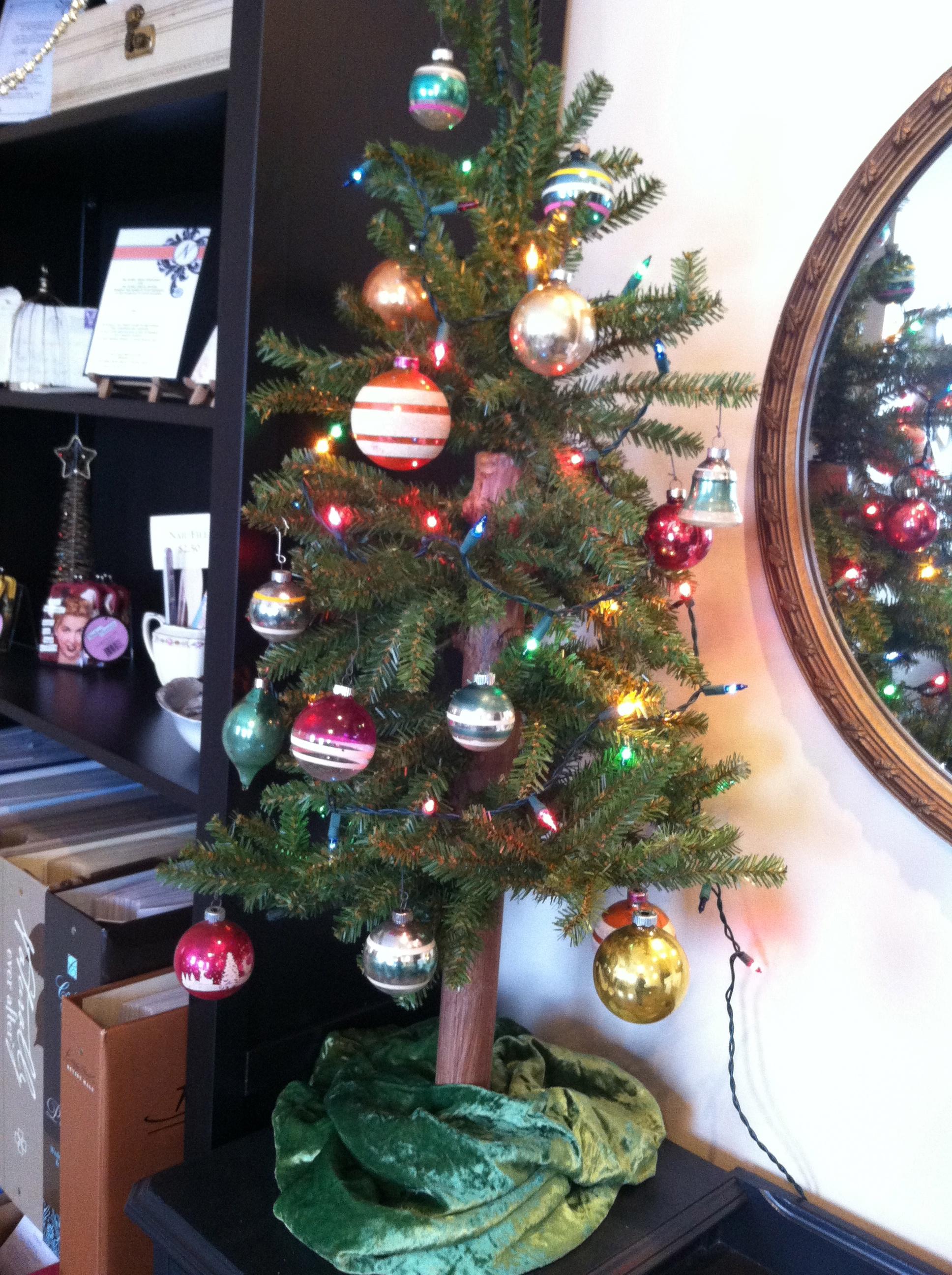 Tree and Vintage Bulbs