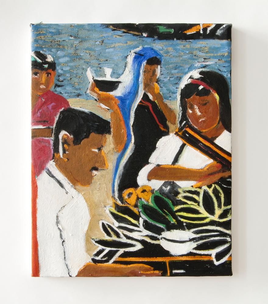 """Jasalmaar, Rajisthan  2009 oil on canvas 14"""" x 11"""""""