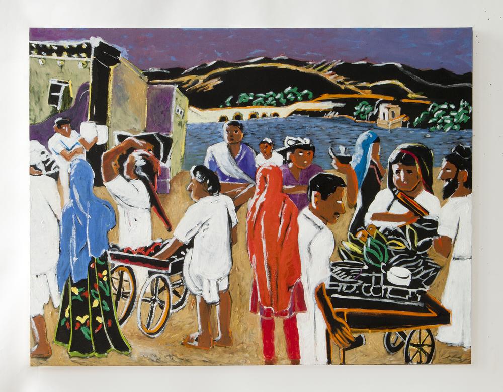"""Jasalmaar, Rajisthan 2009 oil on canvas 30"""" x 40"""""""