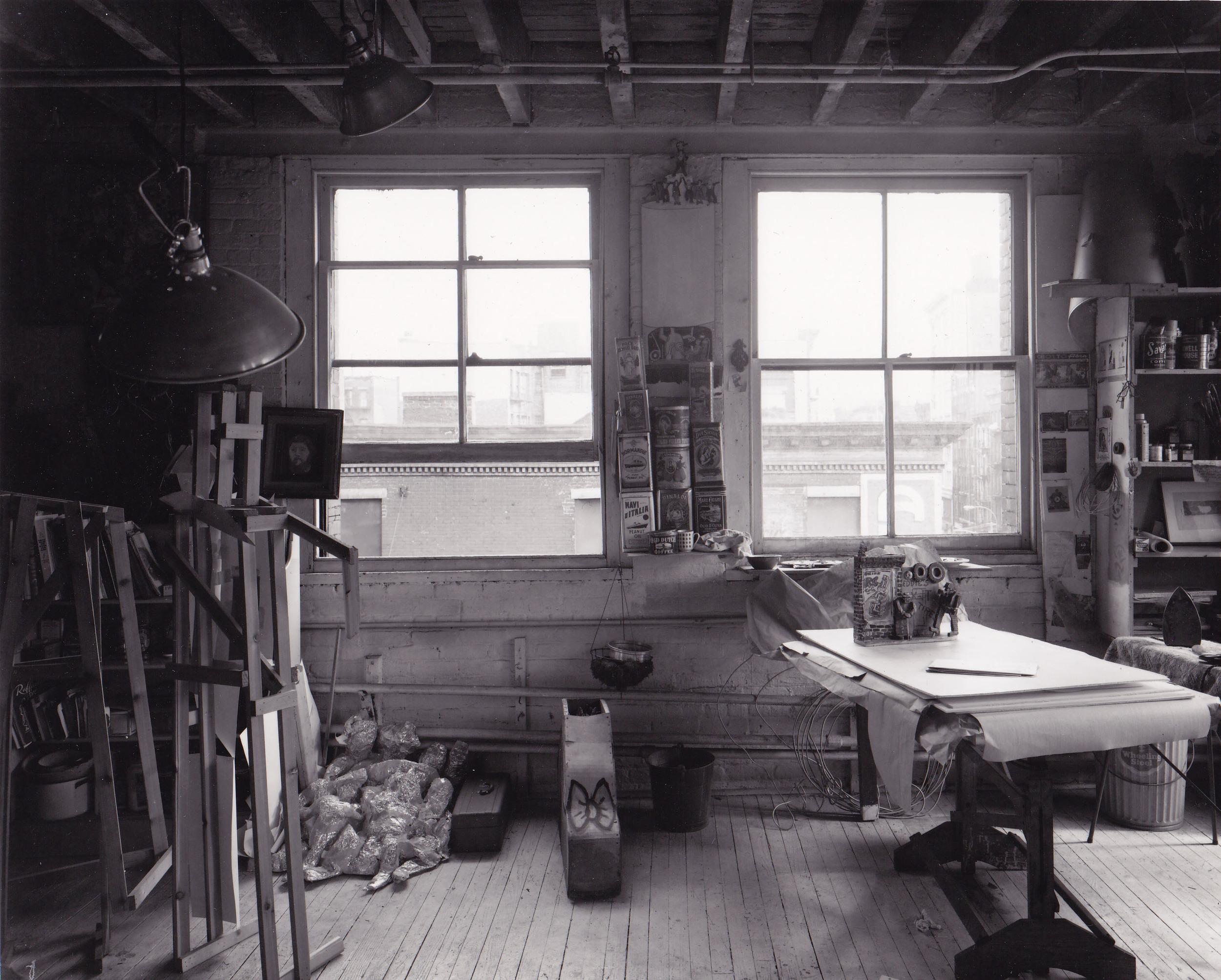 Studio Mulberry Street NYC, 1973, photo by Jordan Davies (2).jpg