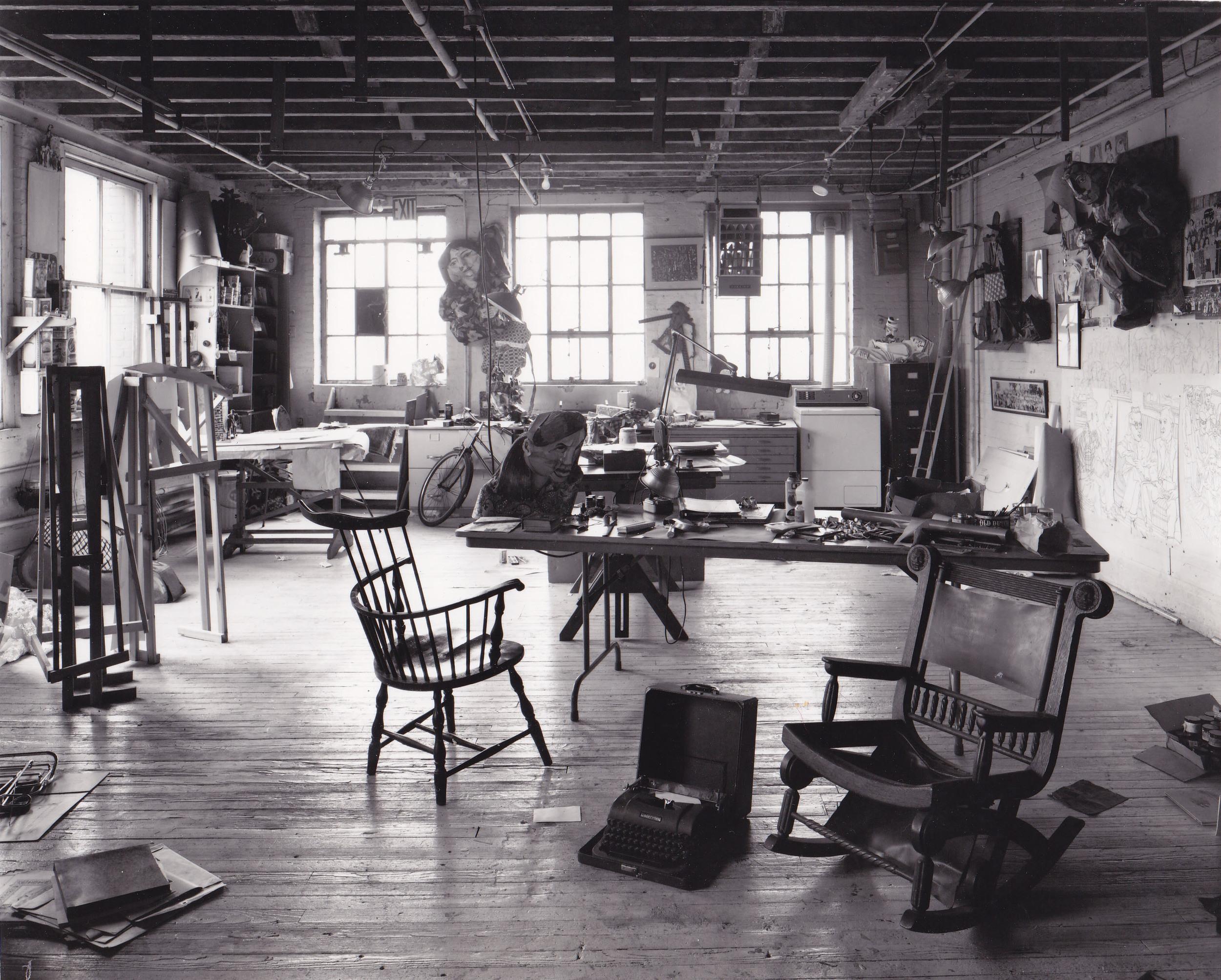 Studio Mulberry Street NYC, 1973, photo by Jordan Davies.jpg