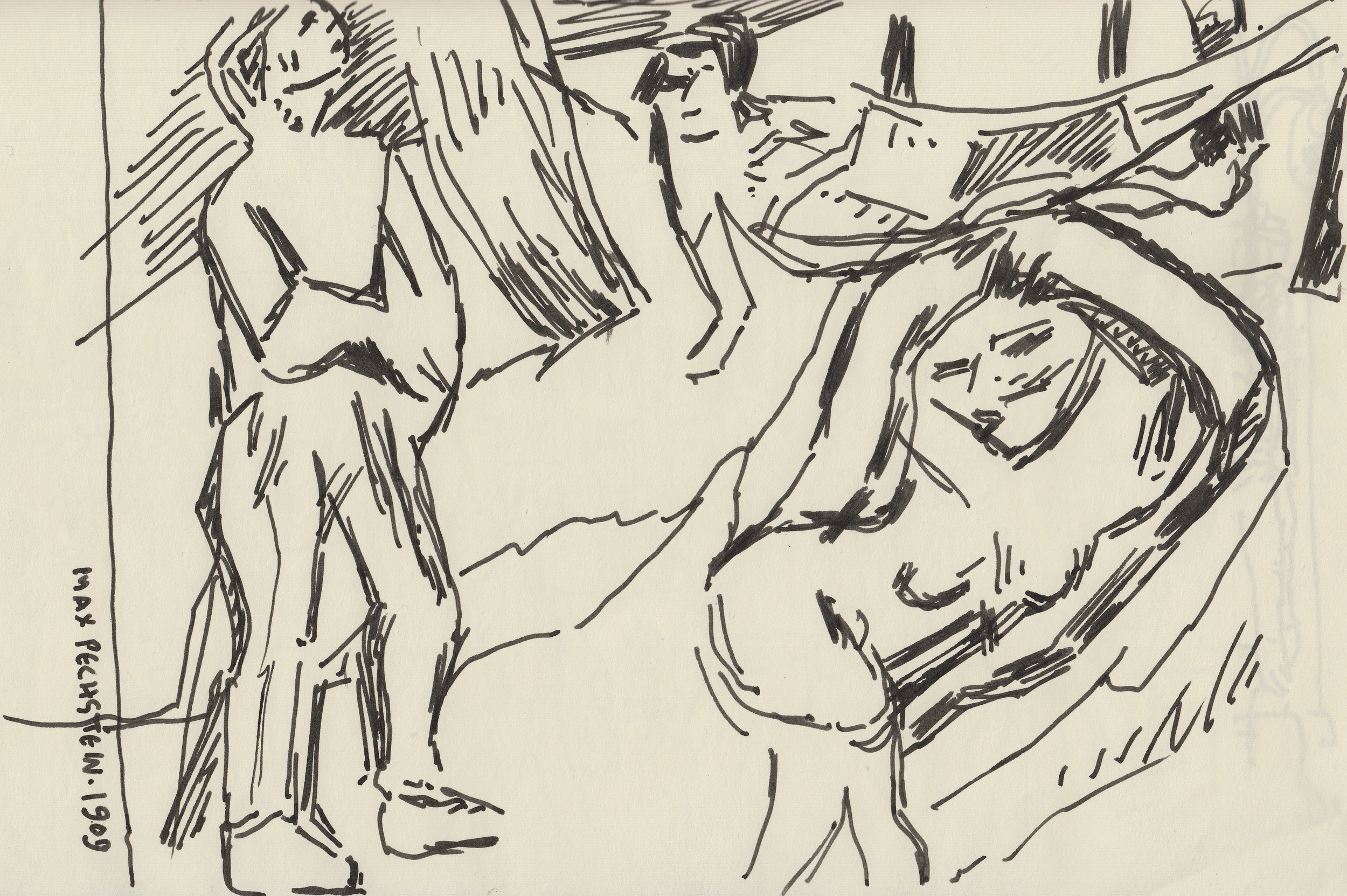Drawing of Max Pechstein Painting from 1909
