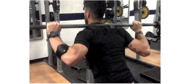 Squat jumps are great tools, but the added convenience of using the Apollo SS Shirt from Skin Tech adds comfort to areas that can take a beating. The reason I think athletes don't like jump squats as much is because of the wear and tear on their traps and upper spine, and padding the area is logical.