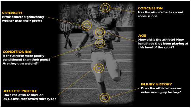 Figure 1: Injury risk factors in team sports