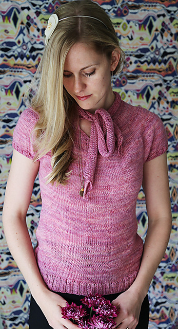 Knit an Anthi in any size written, in fewer than 3 skeins!  Anthi pullover  by Hilary Smith Callis, shown in Mulberry.