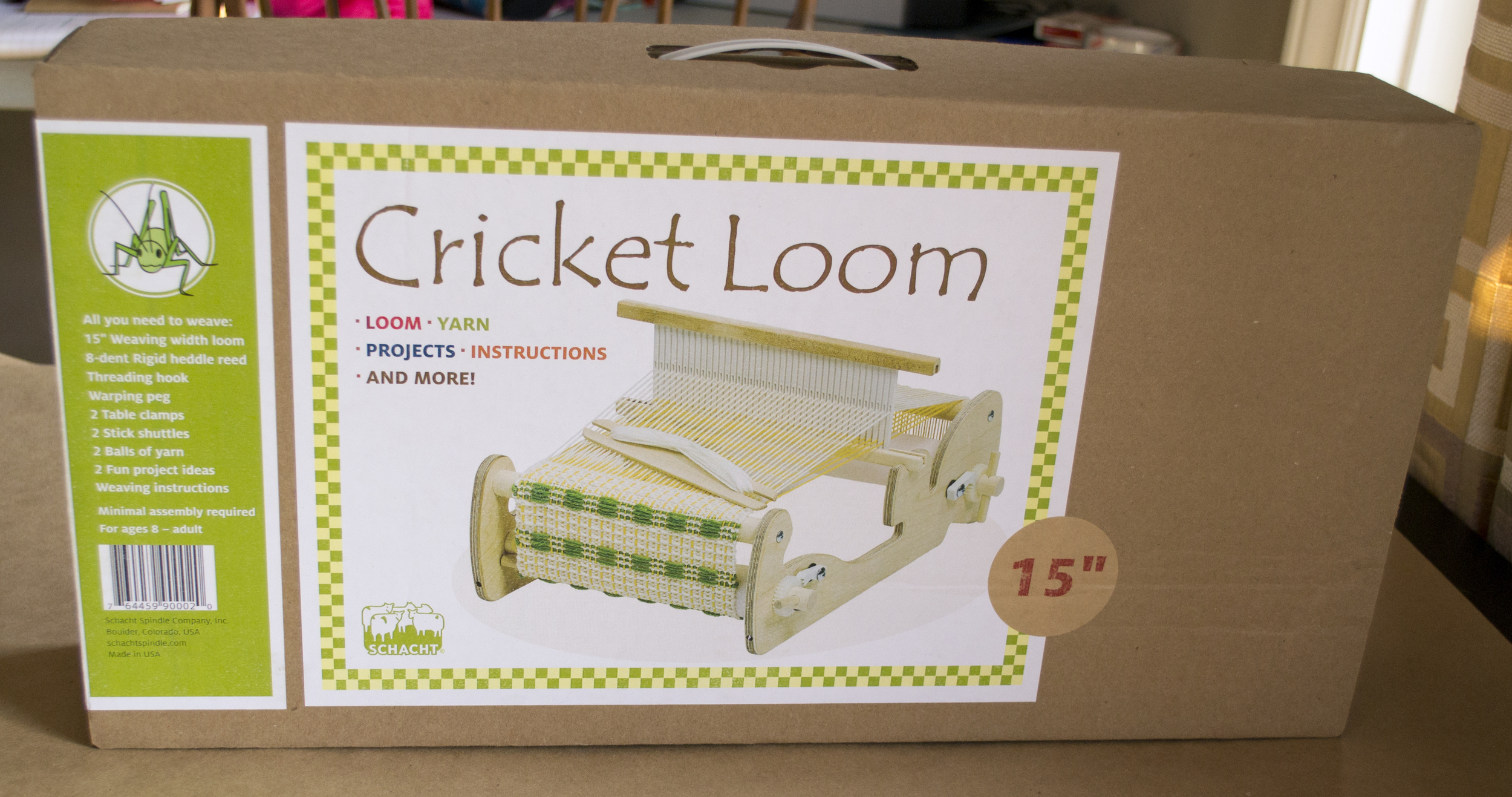 Unboxing the Schacht Cricket Loom — Anzula