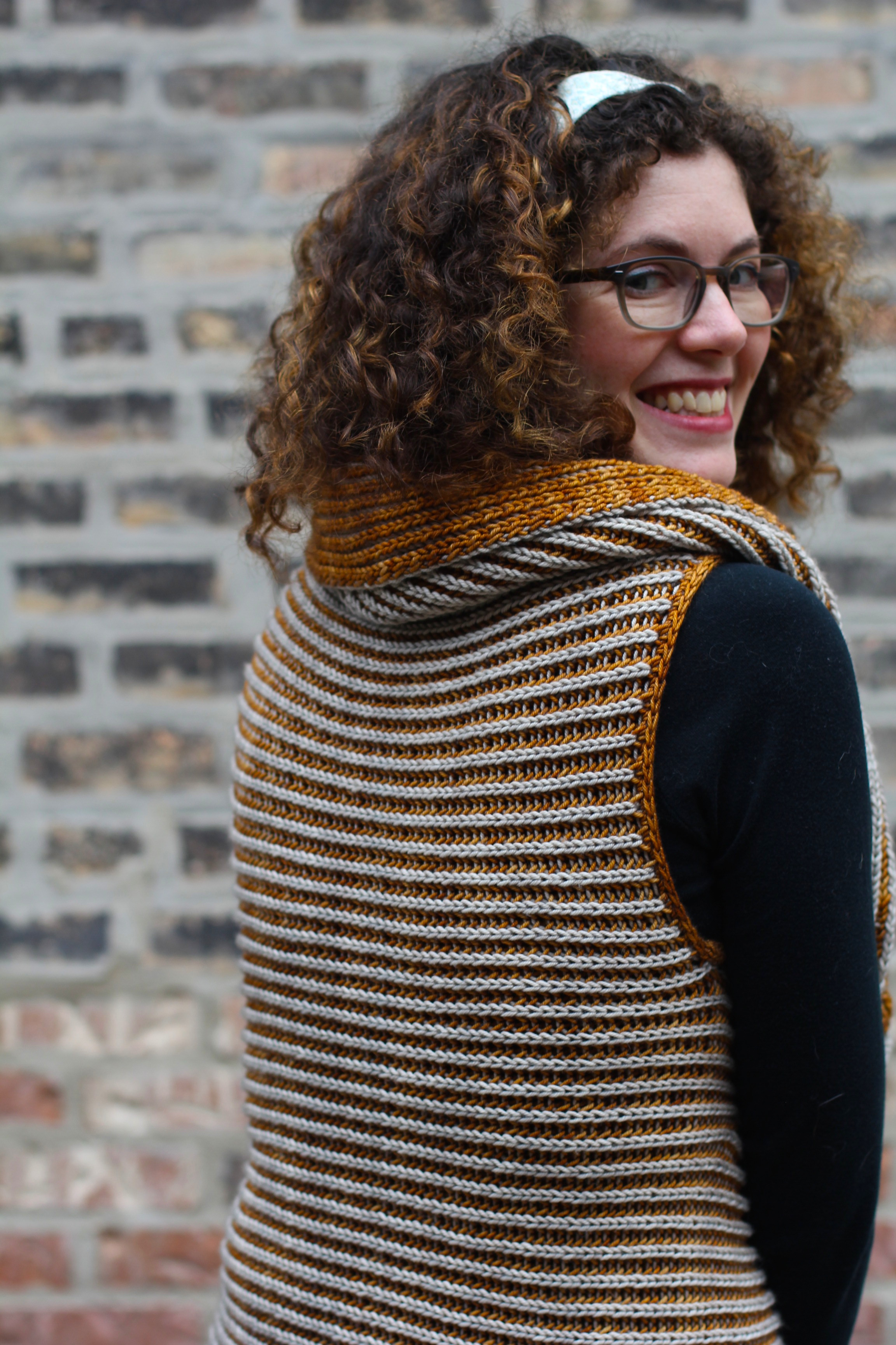 This is just a sneak peek of the vest pattern that will be published in the Fall/Winter 2014 issue of Holla Knits!